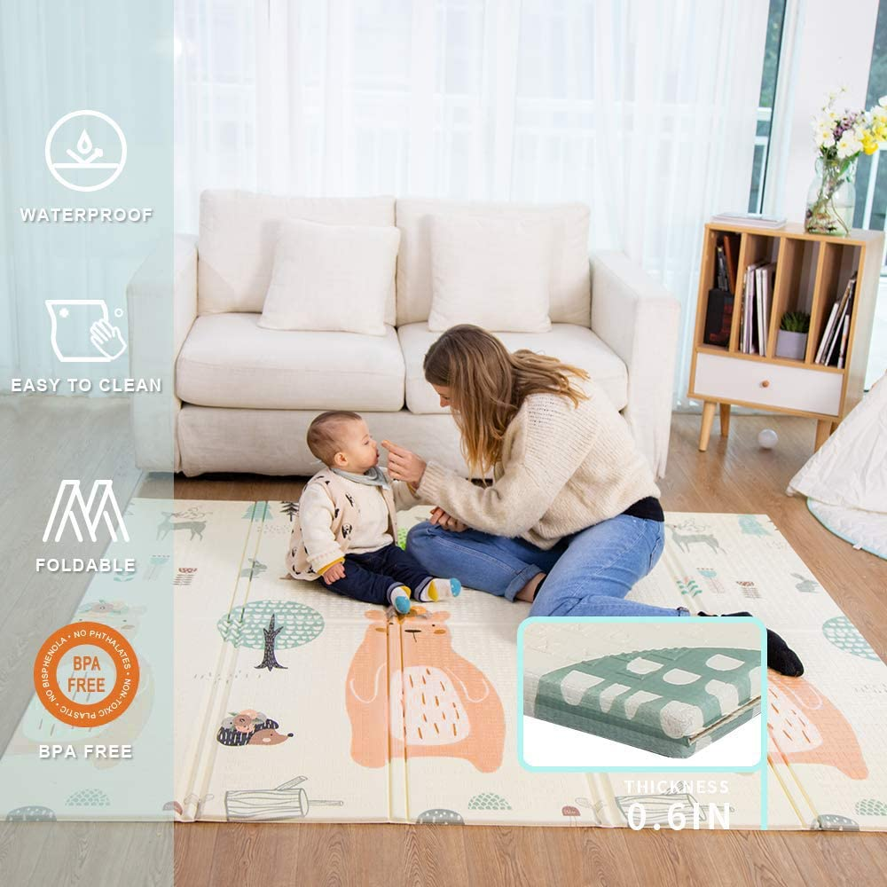 Colchoneta Infantil de más calidad para jugar bebes y niños plegable