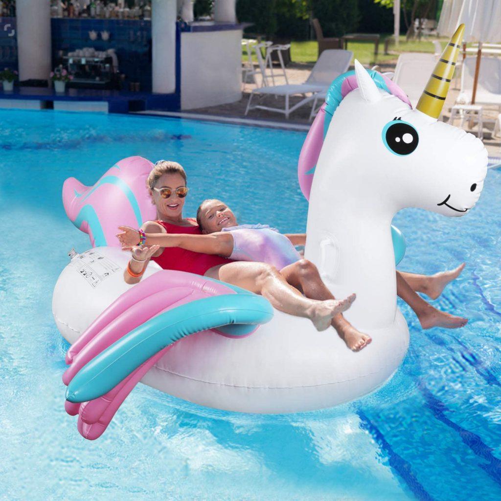 comprar flotador unicornio blanco grande