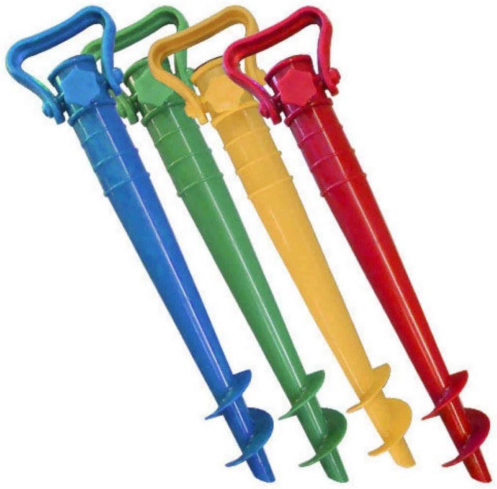 ofertas de pinchos sombrillas anti vuelco de colores, compra en verano 2020