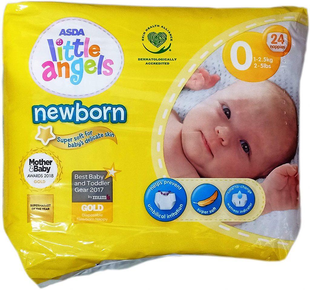 comprar pañales baratos en oferta Pañales Bebes Prematuros Little Angels de ASDA Tamaño 0