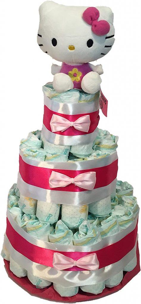 compra regalo Tarta Pañal Hello Kitty el mejor regalo bebes recien nacido regalo original