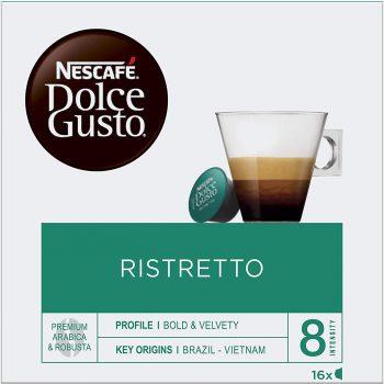 NESCAFÉ Dolce Gusto Cafe Ristretto Cápsulas de café, 16 cápsulas de café, Pack de 3