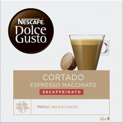 NESCAFÉ Dolce Gusto Cortado Expresso Macchiato Descafeinado 16 cápsulas café