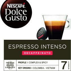 NESCAFÉ Dolce Gusto Espresso intenso descafeinado Cápsulas de Café 16 cápsulas de café