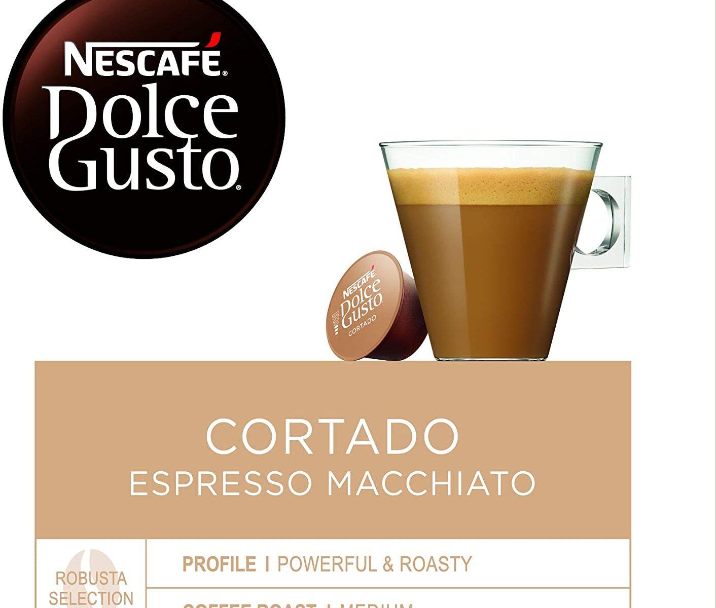 Nescafé DOLCE GUSTO Magnum Café CORTADO Espresso - Cápsulas de Café - 3 x 30 - 90 Cápsulas
