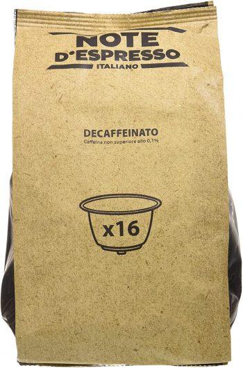Note D'Espresso Cápsulas de Café Descafeinado