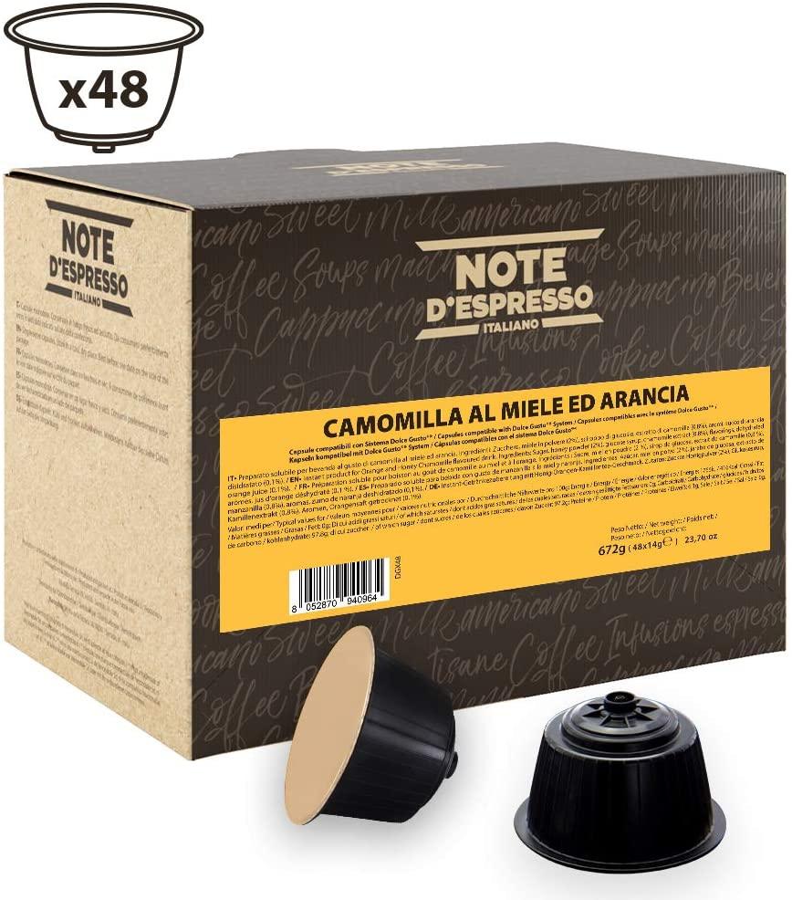 Note D'Espresso Cápsulas de Manzanilla con Miel y Naranja