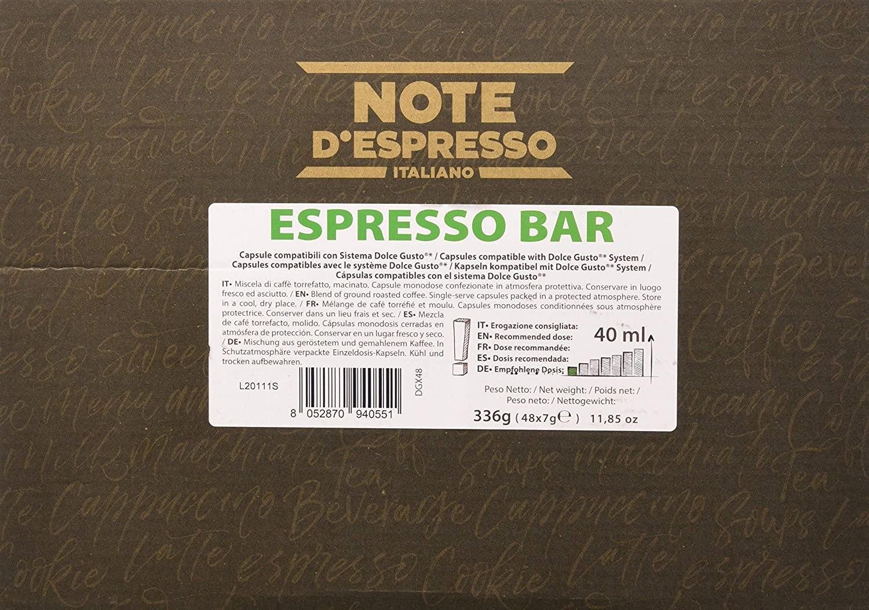 Note D'Espresso Cápsulas de café Espresso Bar