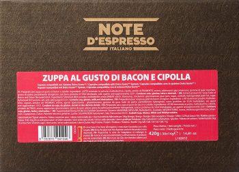 Note D'Espresso - Cápsulas de caldo de beicon y cebolla.