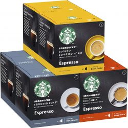 STARBUCKS By Nescafe Dolce Gusto Variety Pack Black Cup Coffee