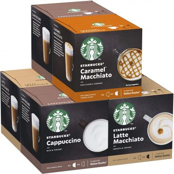 STARBUCKS By Nescafe Dolce Gusto Variety Pack White Cup Coffee