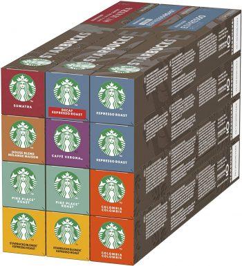 Starbucks By Nespresso Variety Pack, 12 X Tubos De 10 Cápsulas De Café, 8 sabores.