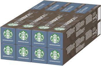 Starbucks Espresso Roast de NESPRESSO Cápsulas de café de tostado intenso